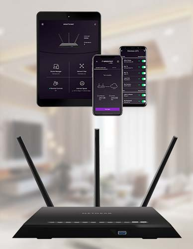 With the Netgear Router App